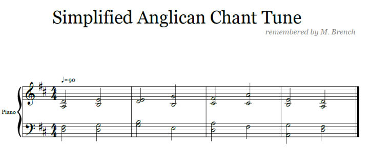 simplified anglican chant